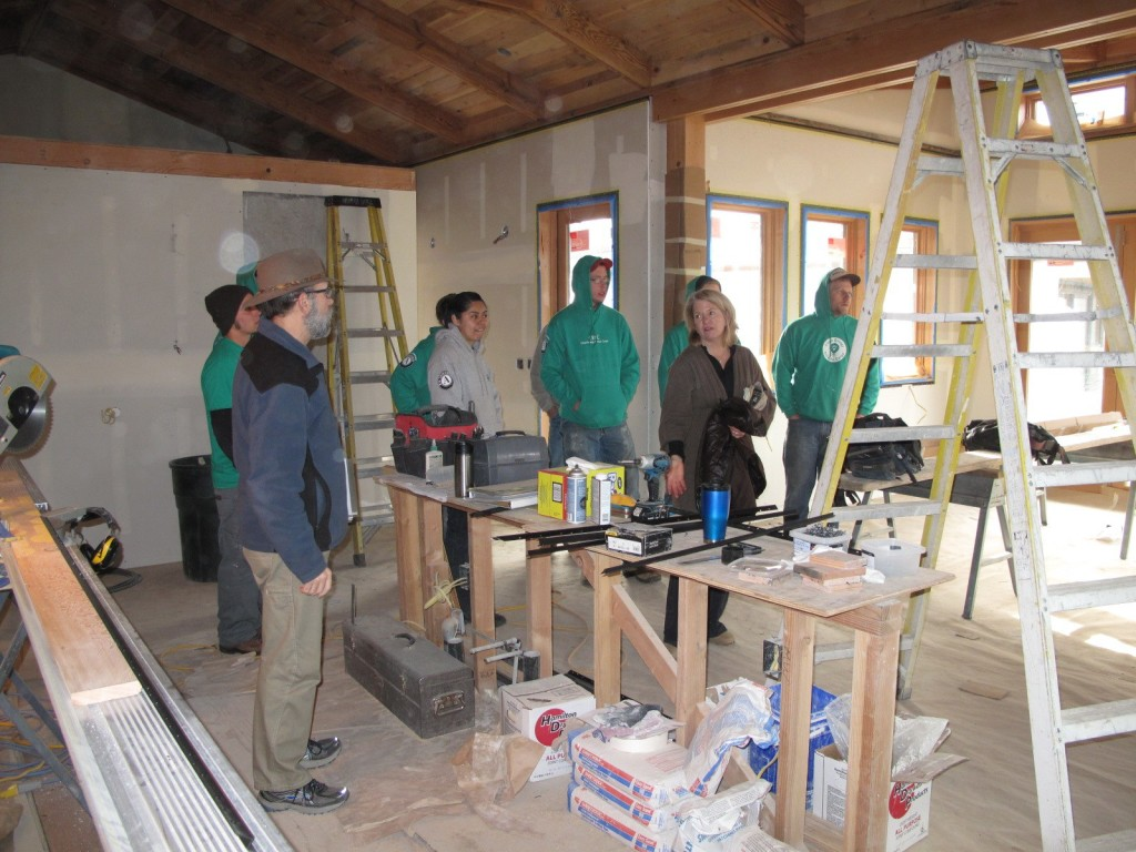Tom and Barb continue the tour amidst the on-going construction in the main house.