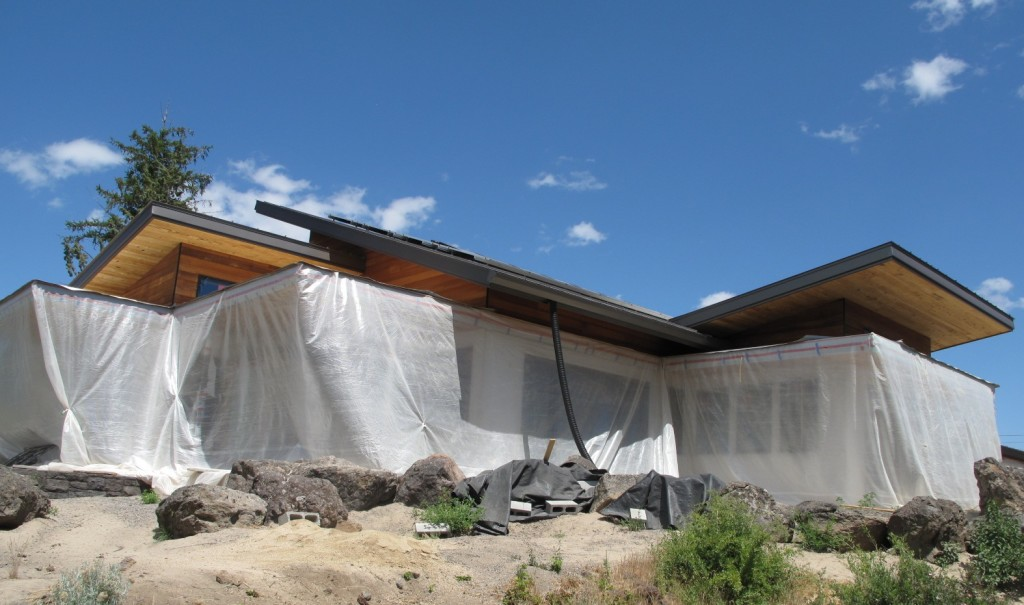 house in wraps