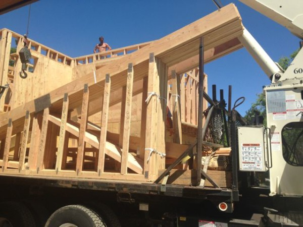 Quality Truss delivered our trusses.